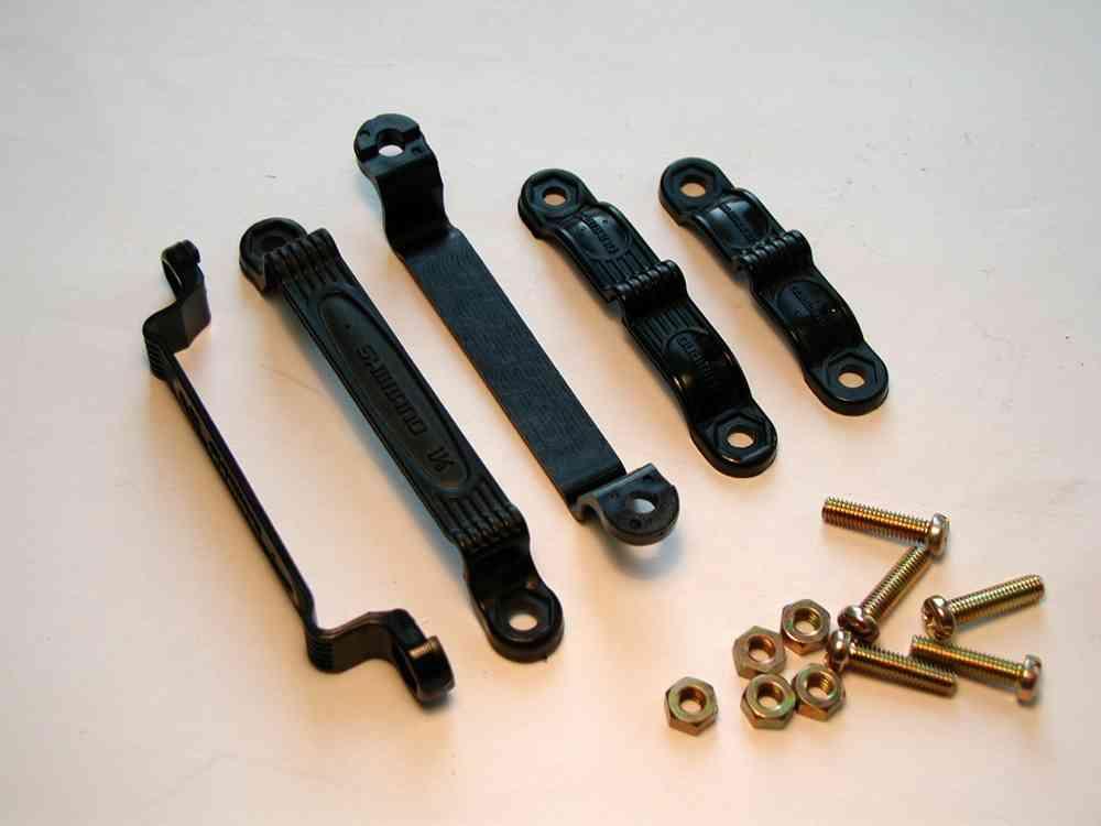 Kabelklemmen Shimano für Schaltzug PPS schwarz 2 Kabel