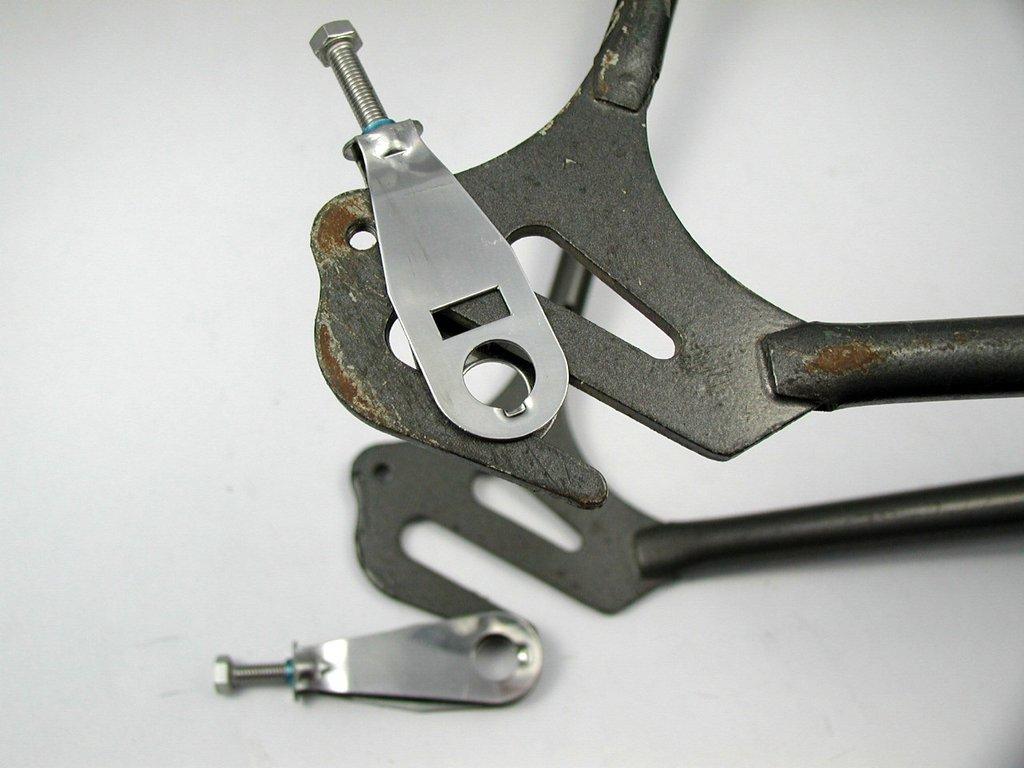 1 Paar Kettenspanner für hinten geschlossene Rahmen Edelstahl