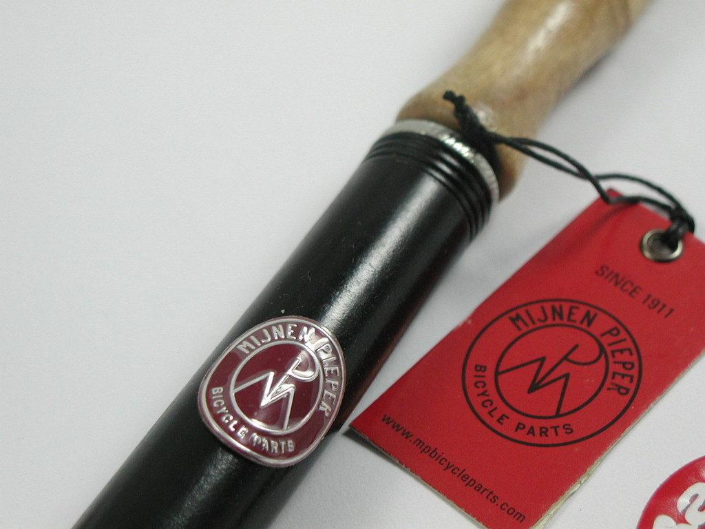Pumpe mit Holzgriff 400mm für Dunlop / Fahrrad - Ventil